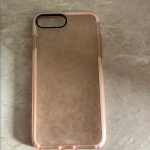 iPhone 8 Plus Pink/Dimond Case